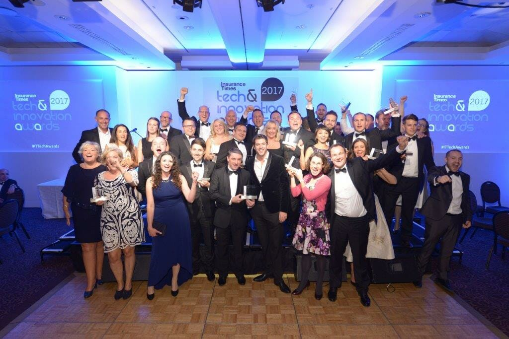 Winners at the Tech & Innovation awards 2017